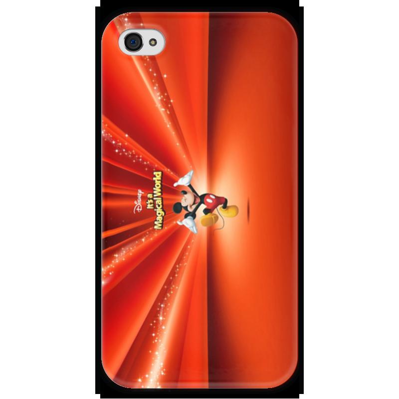 Чехол для iPhone 4 глянцевый, с полной запечаткой Printio Микки маус чехол для iphone 6 глянцевый printio микки маус