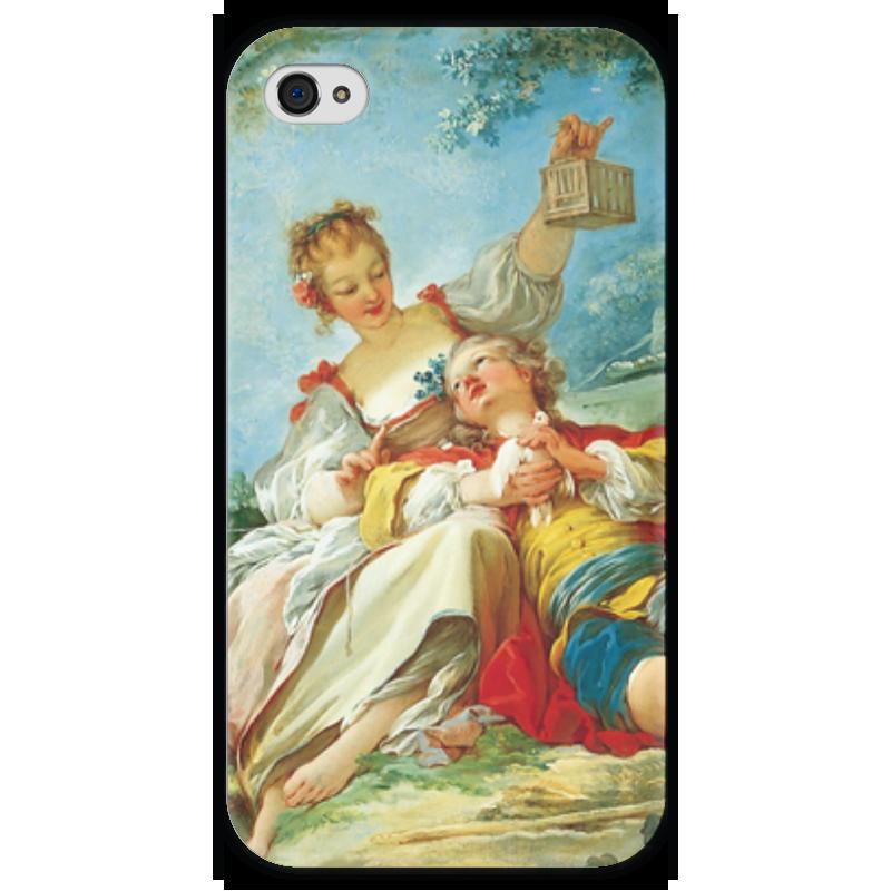 Чехол для iPhone 4 глянцевый, с полной запечаткой Printio Счастливые любовники сыновья и любовники