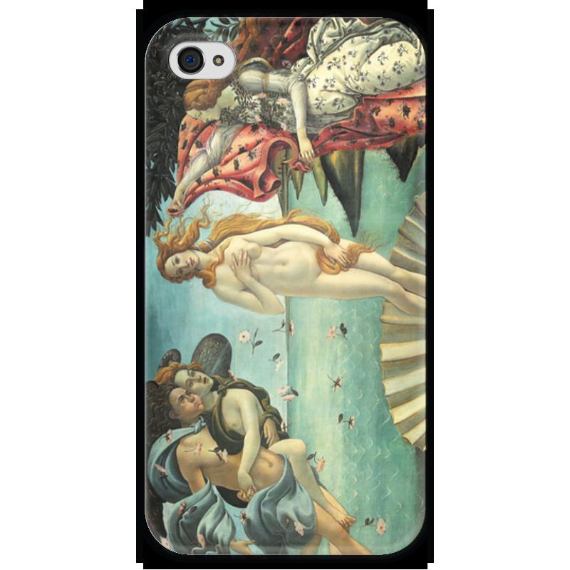 Чехол для iPhone 4 глянцевый, с полной запечаткой Printio Рождение венеры (сандро боттичелли) картина весна боттичелли