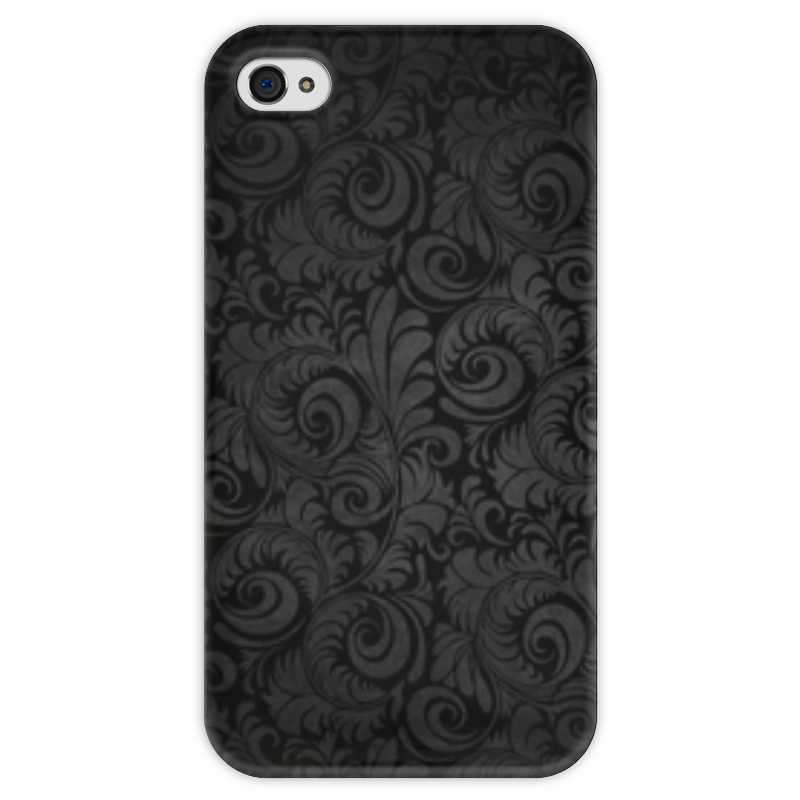 Чехол для iPhone 4 глянцевый, с полной запечаткой Printio Узоры