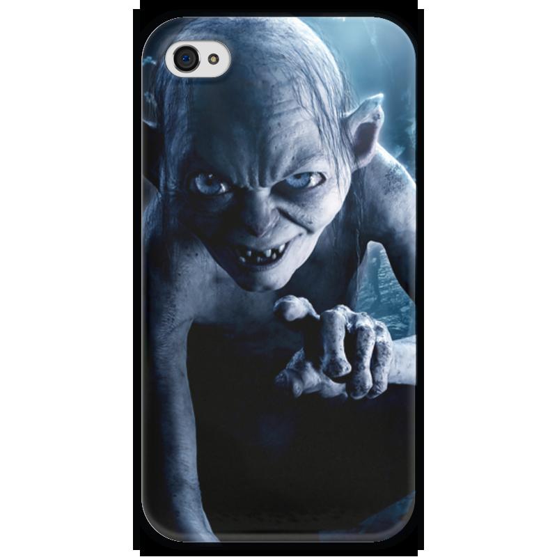Чехол для iPhone 4 глянцевый, с полной запечаткой Printio Голлум чехол для iphone 4 глянцевый с полной запечаткой printio суарес