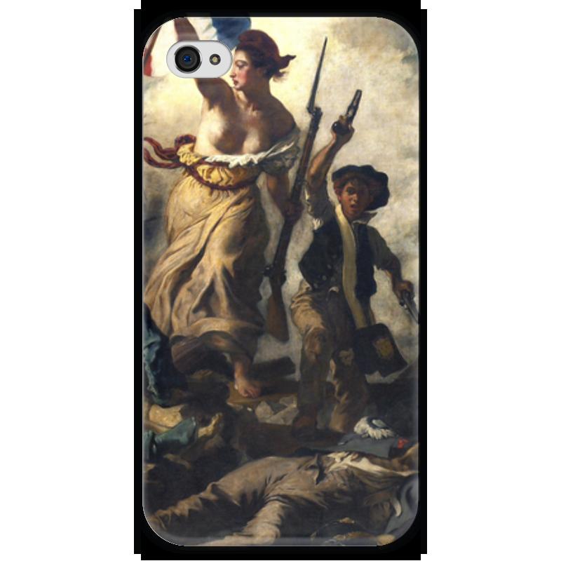 Чехол для iPhone 4 глянцевый, с полной запечаткой Printio Свобода, ведущая народ (эжен делакруа) свобода шампунь для детей с календулой disney baby свобода