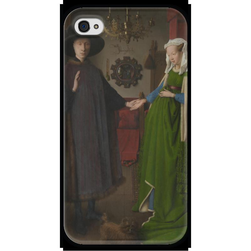 ян ван эйк Чехол для iPhone 4 глянцевый, с полной запечаткой Printio Портрет четы арнольфини (ян ван эйк)