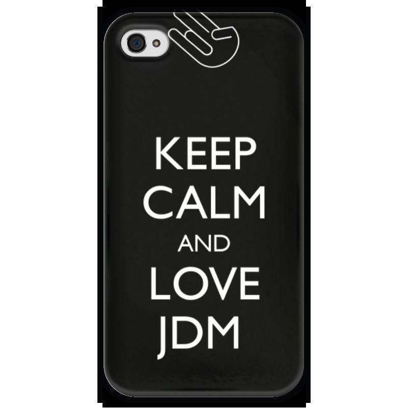 Чехол для iPhone 4 глянцевый, с полной запечаткой Printio Keep calm and love jdm футболка wearcraft premium printio keep calm