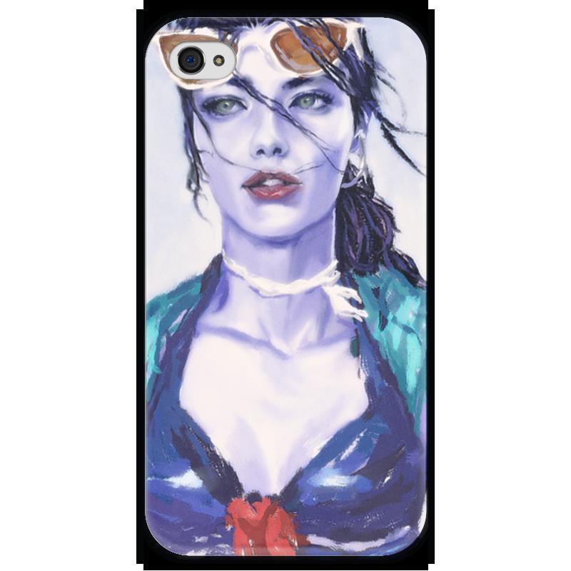 Чехол для iPhone 4 глянцевый, с полной запечаткой Printio Overwatch: widowmaker