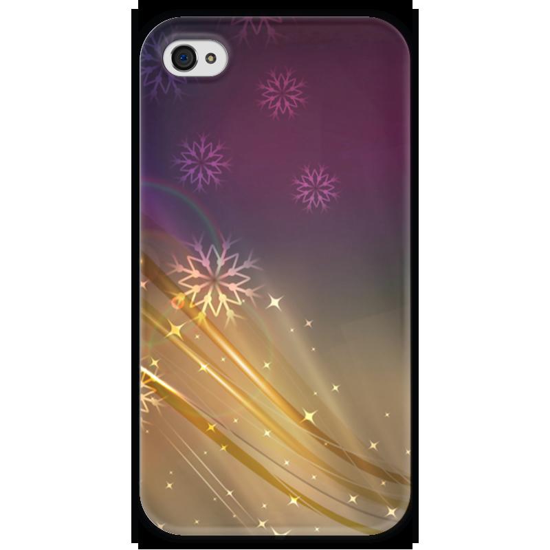 Чехол для iPhone 4 глянцевый, с полной запечаткой Printio Снежная фантазия чехол для iphone 4 глянцевый с полной запечаткой printio эфиопка