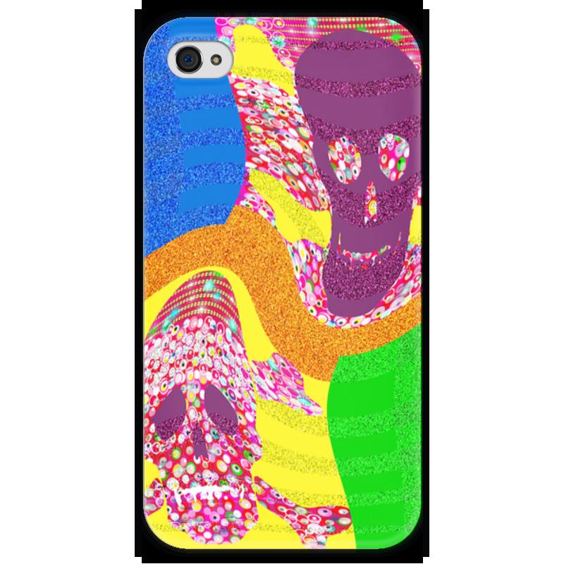 Чехол для iPhone 4 глянцевый, с полной запечаткой Printio Золотой песок