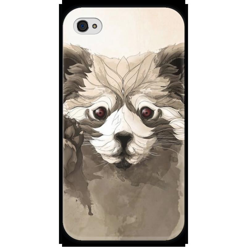 Чехол для iPhone 4 глянцевый, с полной запечаткой Printio Малая панда чехол для iphone 4 глянцевый с полной запечаткой printio эфиопка