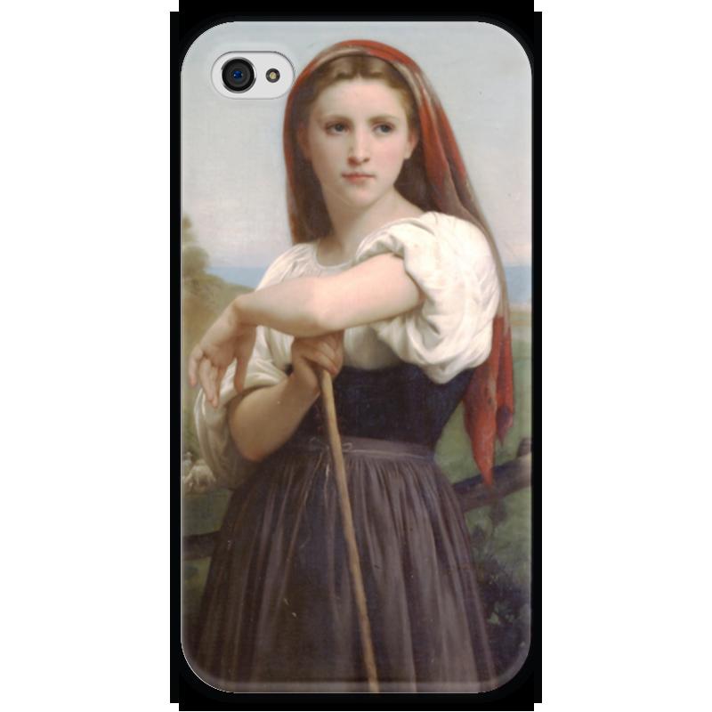 Чехол для iPhone 4 глянцевый, с полной запечаткой Printio Юная пастушка чехол для iphone 4 глянцевый с полной запечаткой printio эфиопка