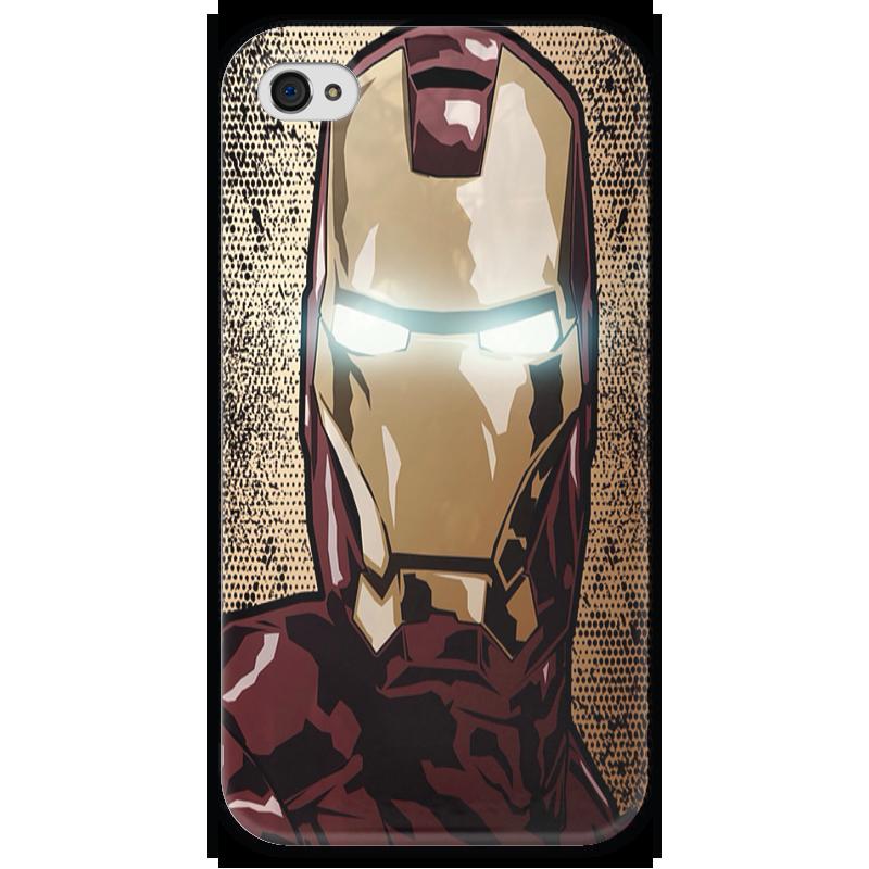 Чехол для iPhone 4 глянцевый, с полной запечаткой Printio Iron man чехол для iphone 4 глянцевый с полной запечаткой printio эфиопка