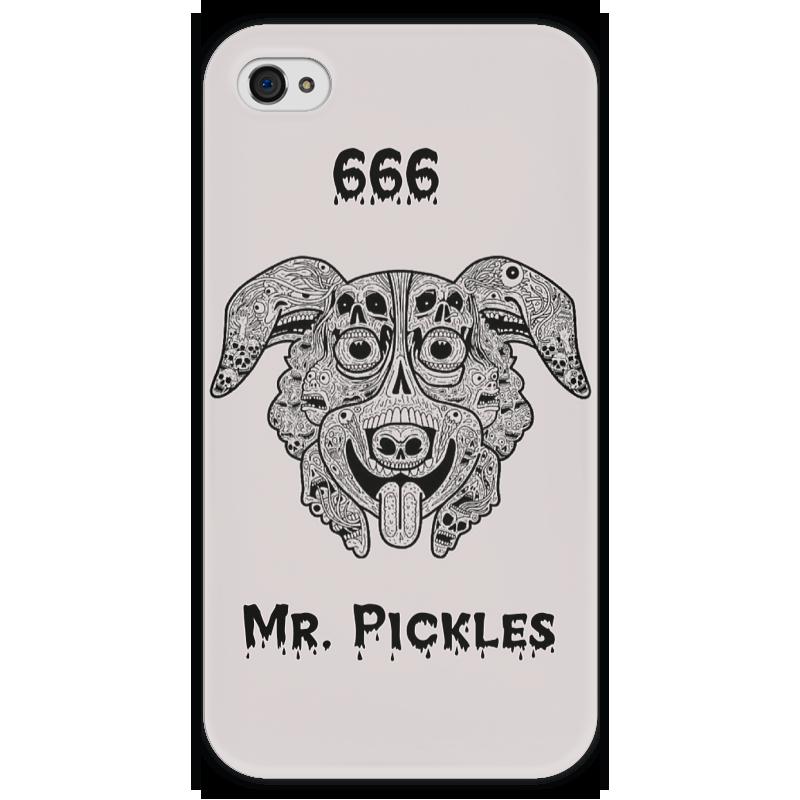 Чехол для iPhone 4 глянцевый, с полной запечаткой Printio Mr. pickles чехол для iphone 4 глянцевый с полной запечаткой printio эфиопка