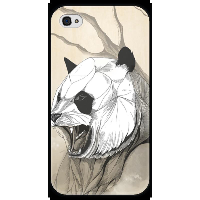 Чехол для iPhone 4 глянцевый, с полной запечаткой Printio Панда чехол для iphone 4 глянцевый с полной запечаткой printio эфиопка