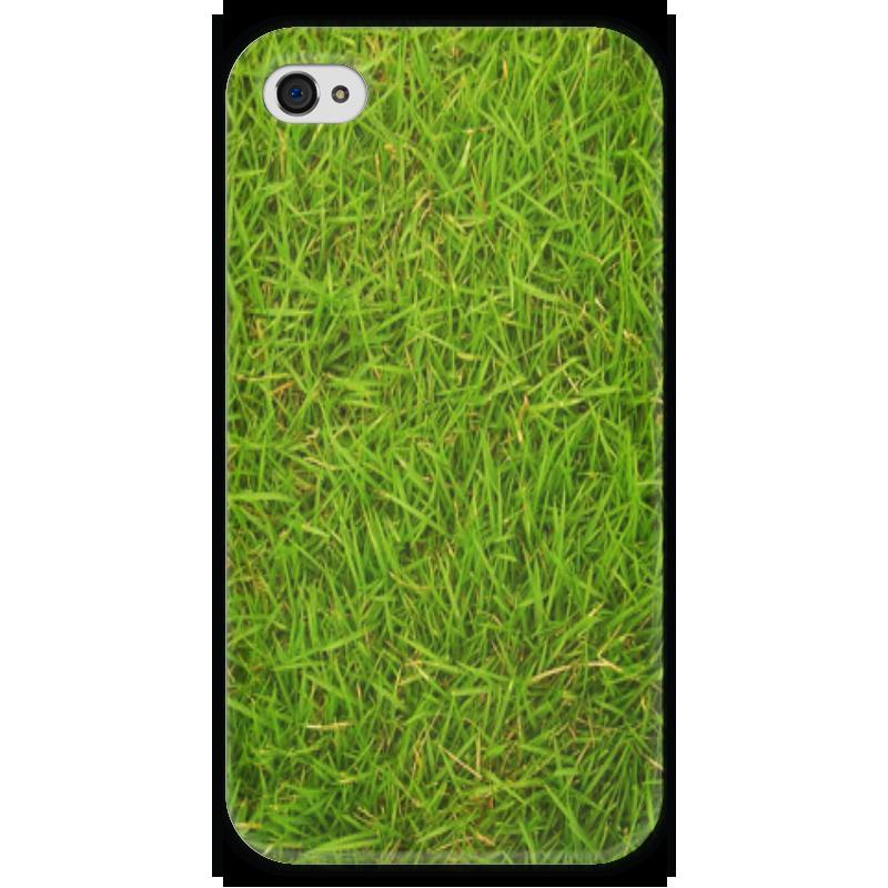 Чехол для iPhone 4 глянцевый, с полной запечаткой Printio Grass kit чехол для iphone 4 глянцевый с полной запечаткой printio фруктовый сад в цвету