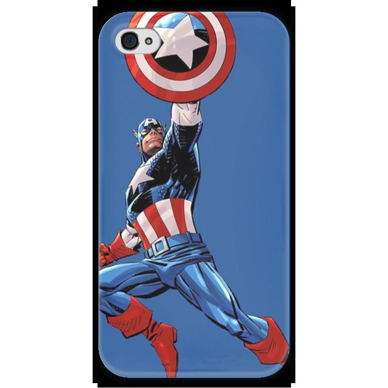Чехол для iPhone 4 глянцевый, с полной запечаткой Printio Капитан америка чехол для iphone 4 глянцевый с полной запечаткой printio эфиопка