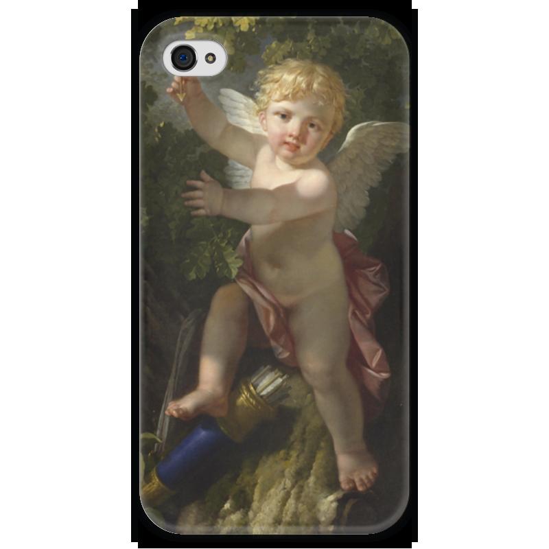 Чехол для iPhone 4 глянцевый, с полной запечаткой Printio Купидон на дереве (ле барбье жан-жак-франсуа) ле трезор дю руа красное