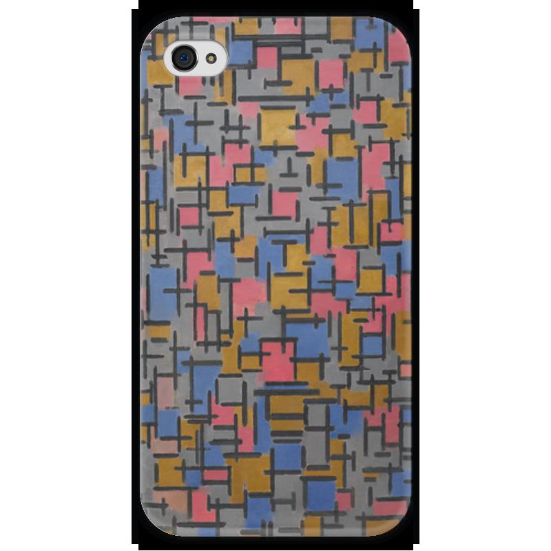 Чехол для iPhone 4 глянцевый, с полной запечаткой Printio Композиция (питер мондриан) чехол для карточек пит мондриан дк2017 110