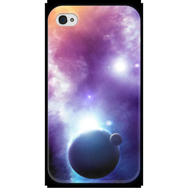 Чехол для iPhone 4 глянцевый, с полной запечаткой Printio Universe чехол для iphone 4 глянцевый с полной запечаткой printio эфиопка