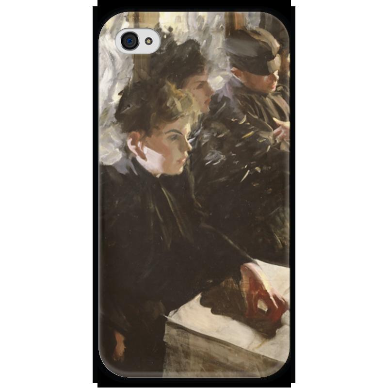 Чехол для iPhone 4 глянцевый, с полной запечаткой Printio Omnibus