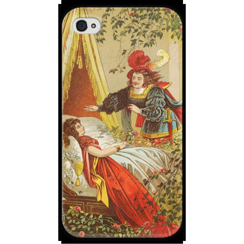 Чехол для iPhone 4 глянцевый, с полной запечаткой Printio Спящая красавица (сказка) книги издательство акварель спящая красавица
