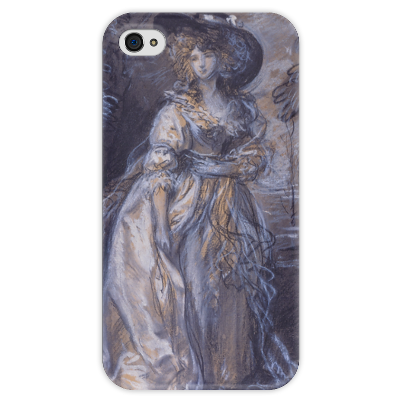 Чехол для iPhone 4 глянцевый, с полной запечаткой Printio Study of a lady free shipping 5pcs lot pm49fl004t 33jce offen use laptop p 100% new original