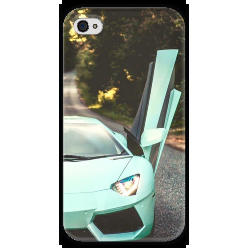 Чехол для iPhone 4 глянцевый, с полной запечаткой Printio Lamborghini чехол для iphone 4 глянцевый с полной запечаткой printio челси