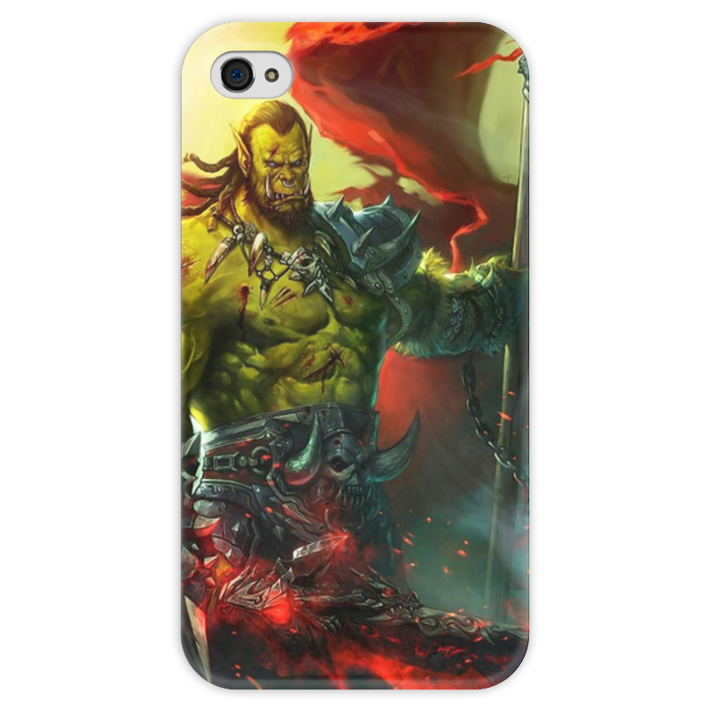 Чехол для iPhone 4 глянцевый, с полной запечаткой Printio Warcraft collection чехол для iphone 4 глянцевый с полной запечаткой printio эфиопка