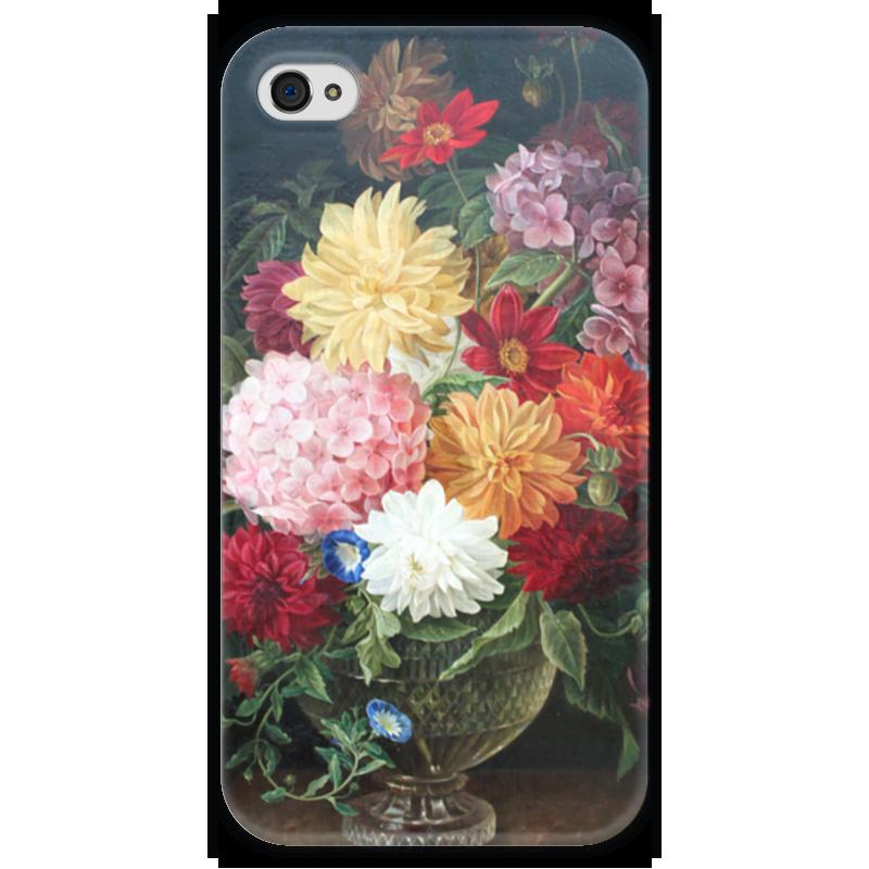 Чехол для iPhone 4 глянцевый, с полной запечаткой Printio Цветочный натюрморт (готфрид фолькер) готфрид келлер зеленый генрих