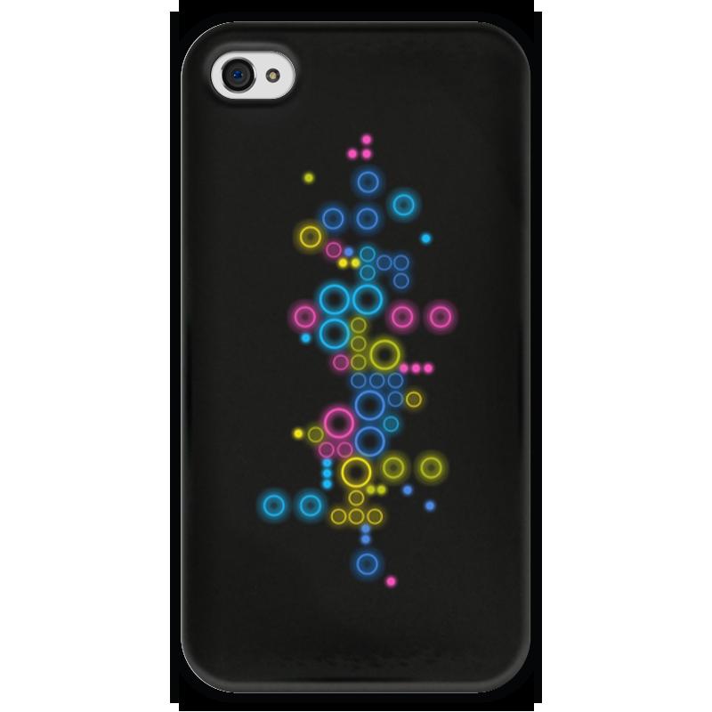Чехол для iPhone 4 глянцевый, с полной запечаткой Printio Психоделика 2