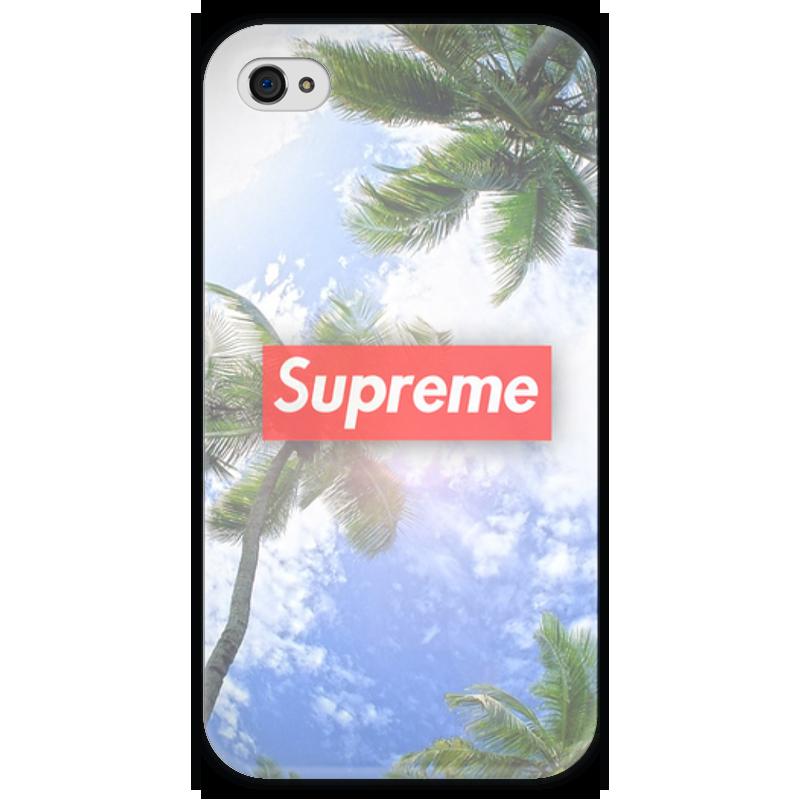 Чехол для iPhone 4 глянцевый, с полной запечаткой Printio Supreme чехол для iphone 4 глянцевый с полной запечаткой printio челси