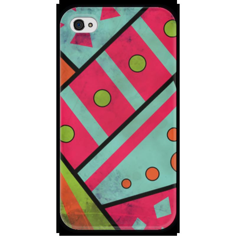 Чехол для iPhone 4 глянцевый, с полной запечаткой Printio Яркая геометрия чехол для iphone 4 глянцевый с полной запечаткой printio эфиопка