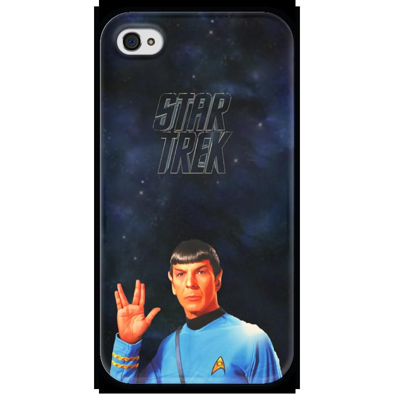 Чехол для iPhone 4 глянцевый, с полной запечаткой Printio Звездный путь-star treck чехол для iphone 4 глянцевый с полной запечаткой printio эфиопка