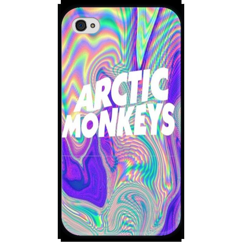 Чехол для iPhone 4 глянцевый, с полной запечаткой Printio Arctic monkeys чехол для iphone 4 глянцевый с полной запечаткой printio эфиопка