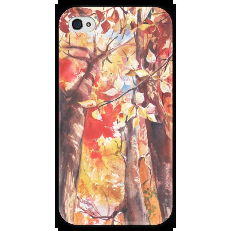 Чехол для iPhone 4 глянцевый, с полной запечаткой Printio Осенний лес чехол для iphone 4 глянцевый с полной запечаткой printio осенний день сокольники левитан