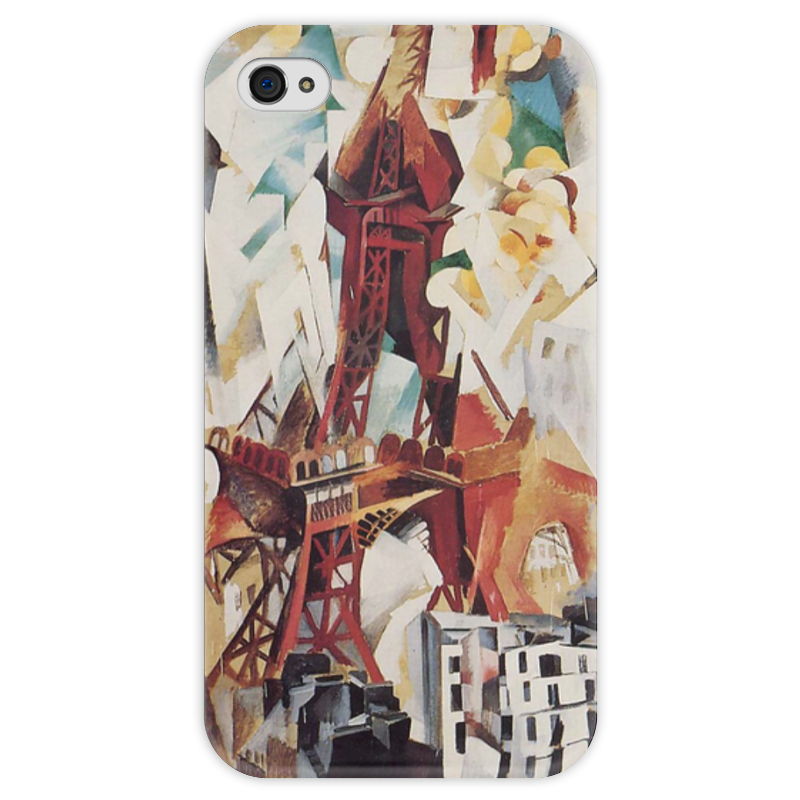 Чехол для iPhone 4 глянцевый, с полной запечаткой Printio Эйфелева башня (робер делоне) футболка с полной запечаткой мужская printio обнажённая с книгой робер делоне