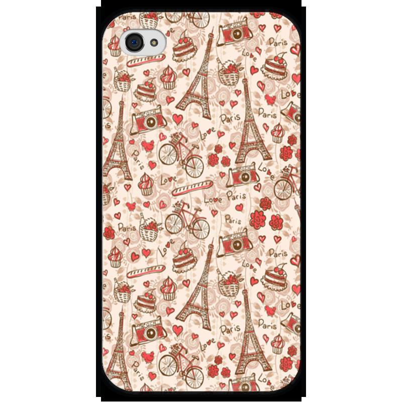 Чехол для iPhone 4 глянцевый, с полной запечаткой Printio Париж чехол для iphone 4 глянцевый с полной запечаткой printio челси