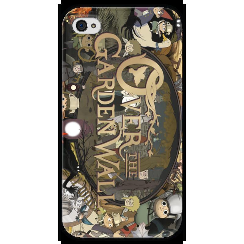 Чехол для iPhone 4 глянцевый, с полной запечаткой Printio По ту сторону изгороди