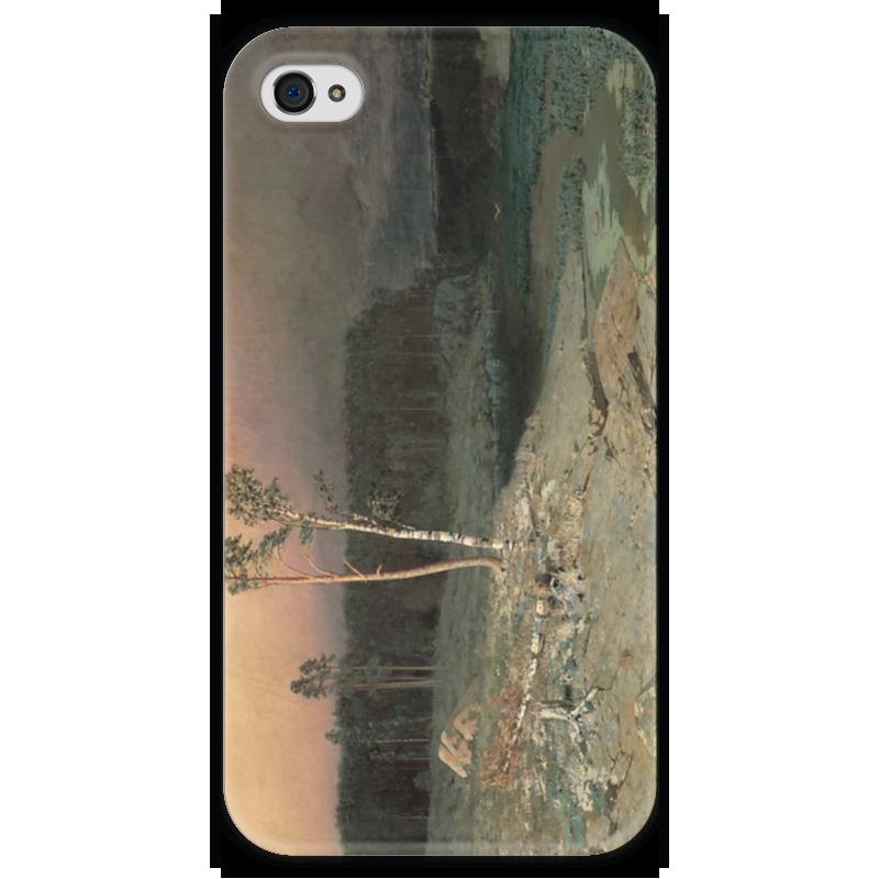 Чехол для iPhone 4 глянцевый, с полной запечаткой Printio На острове валааме (картина архипа куинджи) чехол для blackberry z10 printio север картина архипа куинджи