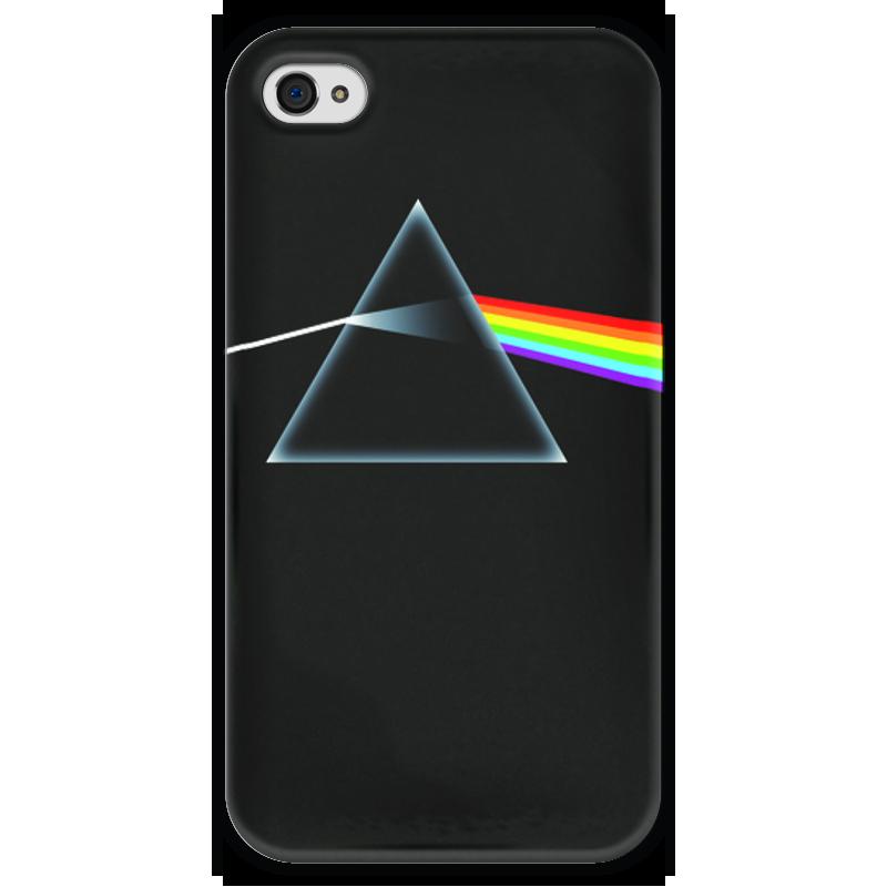 Чехол для iPhone 4 глянцевый, с полной запечаткой Printio Pink floyd