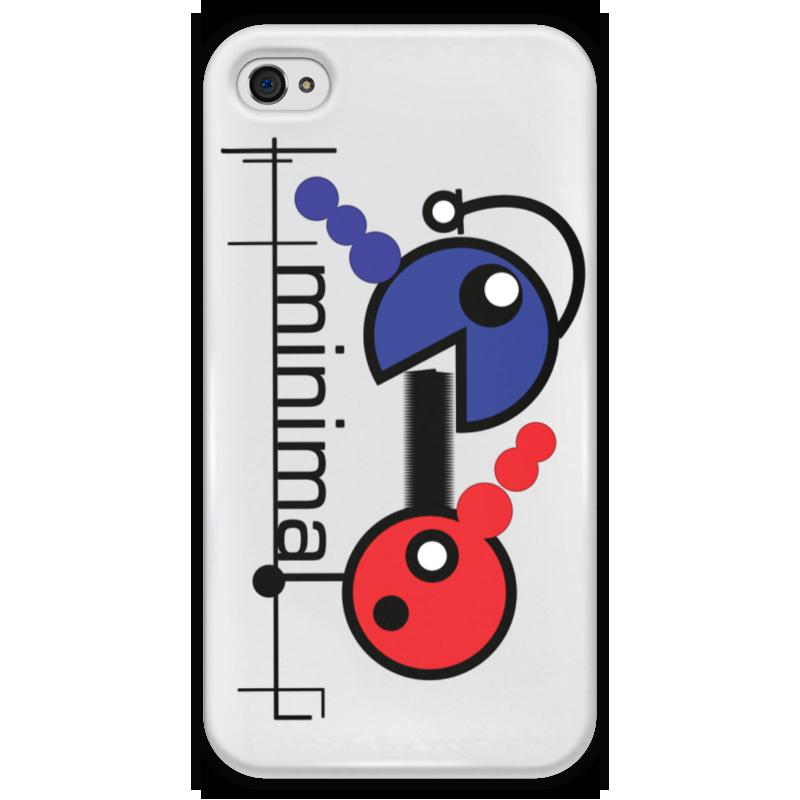 Чехол для iPhone 4 глянцевый, с полной запечаткой Printio Минимал чехол для iphone 4 глянцевый с полной запечаткой printio фруктовый сад в цвету