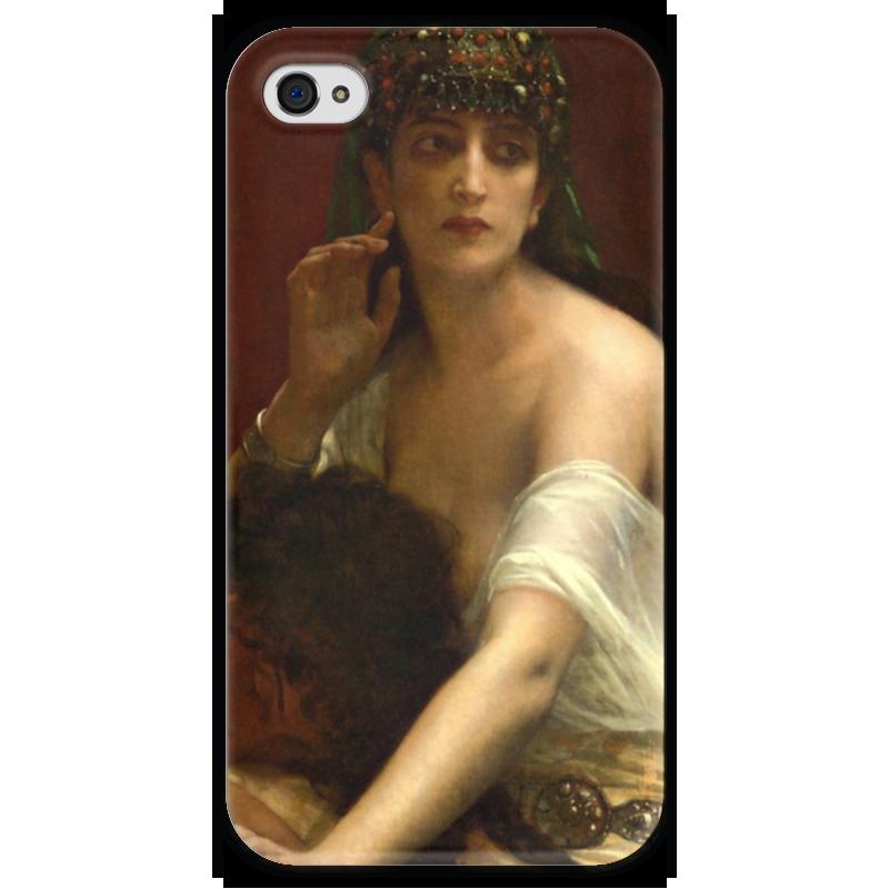 Чехол для iPhone 4 глянцевый, с полной запечаткой Printio Самсон и далила (картина кабанеля)
