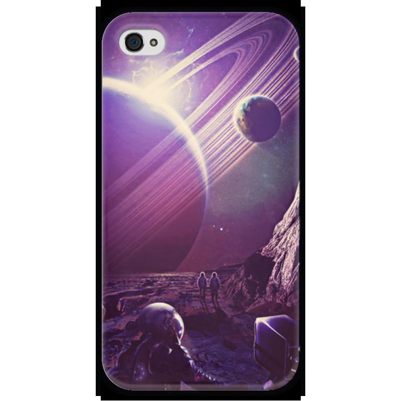Чехол для iPhone 4 глянцевый, с полной запечаткой Printio Космос 2100 чехол для iphone 4 глянцевый с полной запечаткой printio эфиопка