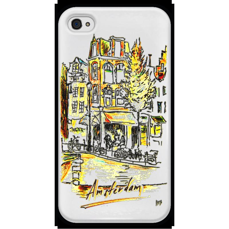 Чехол для iPhone 4 глянцевый, с полной запечаткой Printio Амстердам торт printio набережная в крыму константин коровин