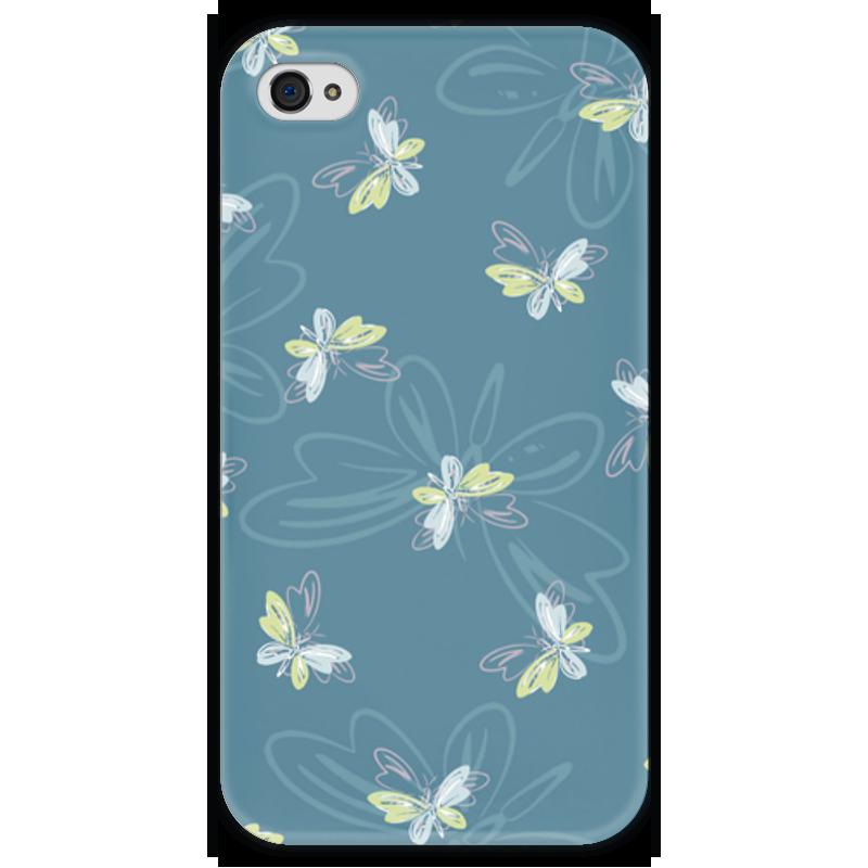 Чехол для iPhone 4 глянцевый, с полной запечаткой Printio Бабочки чехол для iphone 4 глянцевый с полной запечаткой printio сад на улице корто сад на монмартре ренуар