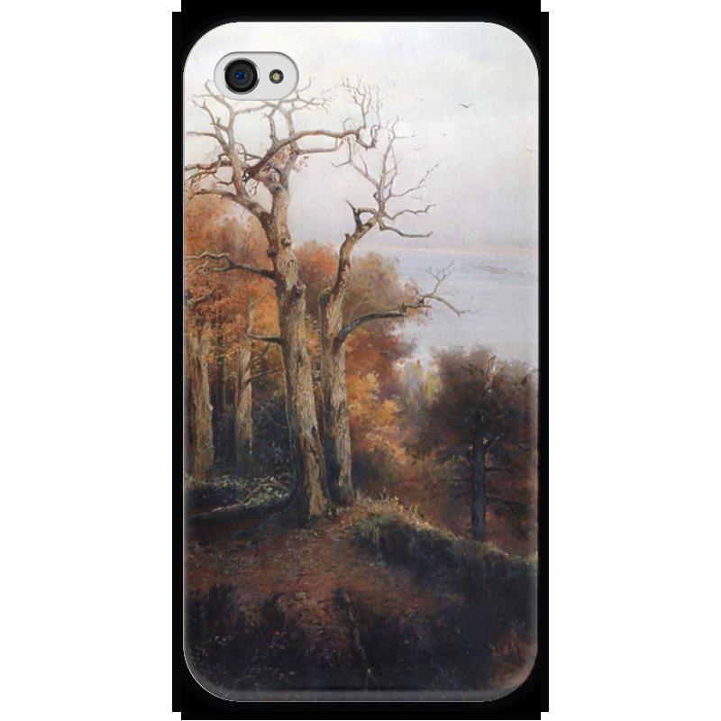 Чехол для iPhone 4 глянцевый, с полной запечаткой Printio Осенний лес. кунцево. (проклятое место) чехол для iphone 4 глянцевый с полной запечаткой printio осенний день сокольники левитан