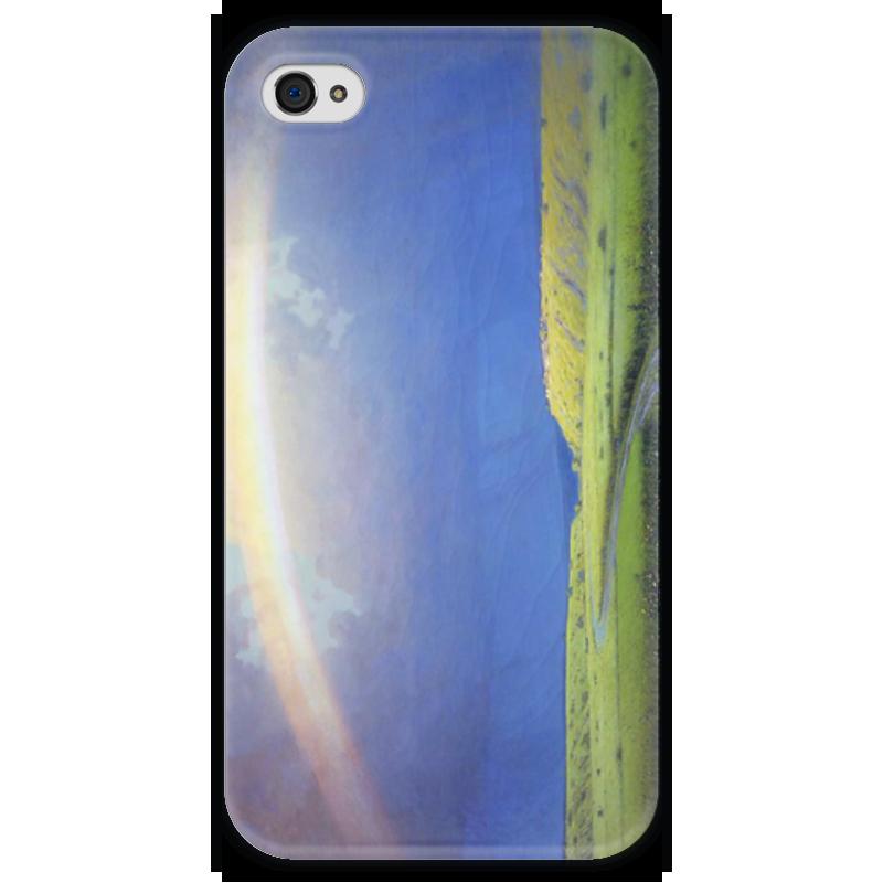 Чехол для iPhone 4 глянцевый, с полной запечаткой Printio Радуга (картина архипа куинджи) чехол для blackberry z10 printio север картина архипа куинджи