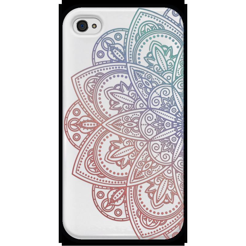 Чехол для iPhone 4 глянцевый, с полной запечаткой Printio Мандала чехол для iphone 4 глянцевый с полной запечаткой printio иллидан