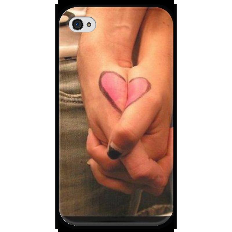 Чехол для iPhone 4 глянцевый, с полной запечаткой Printio Любовь чехол для iphone 4 глянцевый с полной запечаткой printio father forgive them