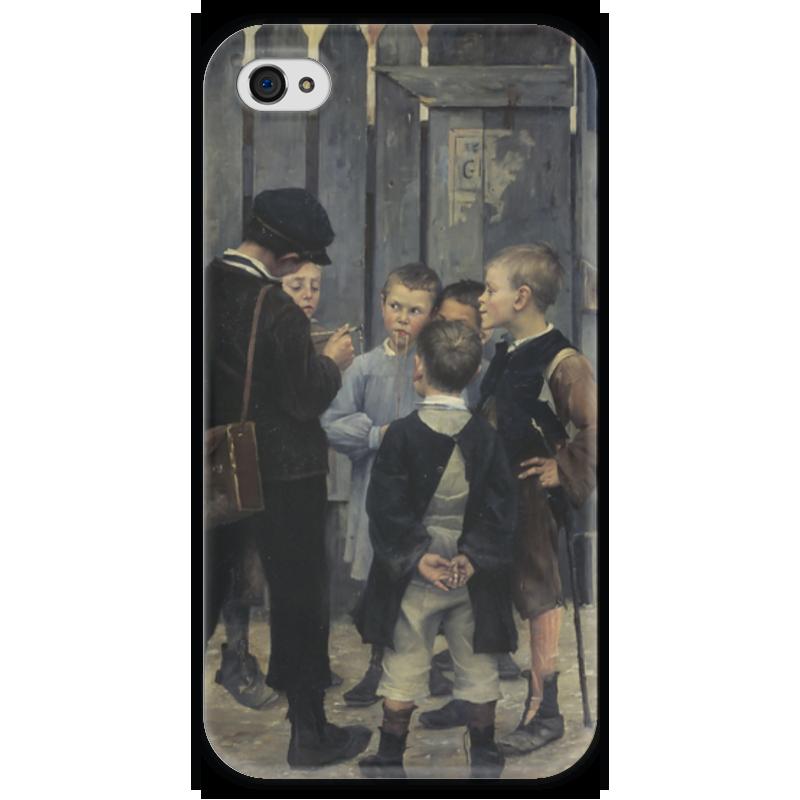 Чехол для iPhone 4 глянцевый, с полной запечаткой Printio Совещание чехол для iphone 7 глянцевый printio совещание
