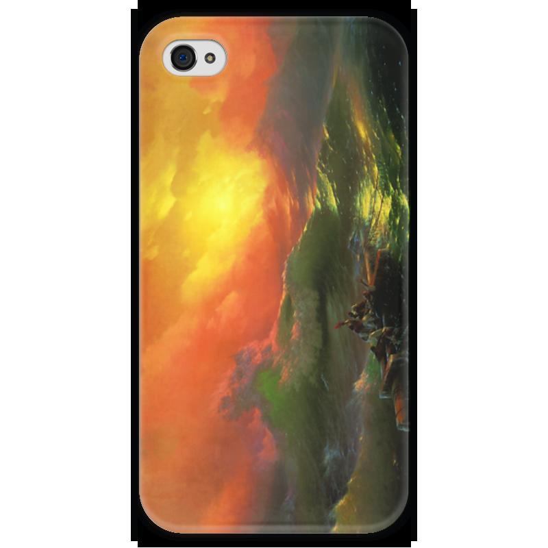 Чехол для iPhone 4 глянцевый, с полной запечаткой Printio Девятый вал (картина айвазовского) чехол для iphone 7 объёмная печать printio девятый вал картина айвазовского