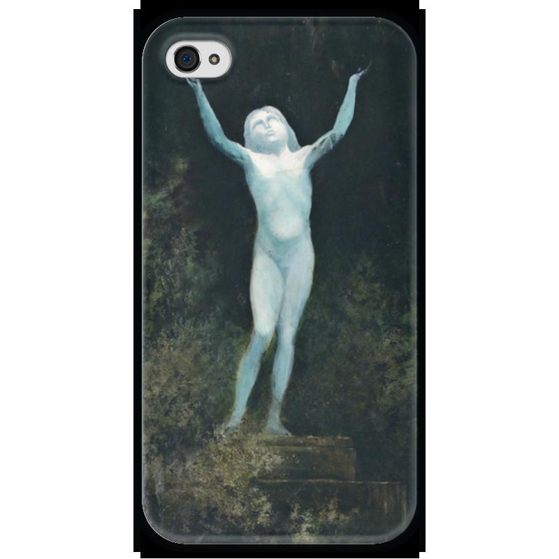 Чехол для iPhone 4 глянцевый, с полной запечаткой Printio Видение (карл вильгельм дифенбах)